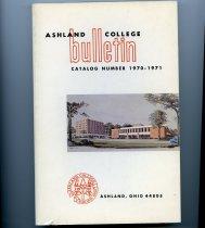 Image of 10-17Catalog1970 - Ashland College bulletin 1970