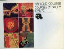 Image of 10-17Catalog1971 - Ashland College Course of Study 1971-1972 College Catalog Bulletin