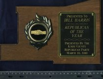Image of Republican of the year - Plaque