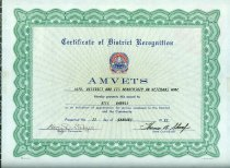 Image of Certificate of District Recognition