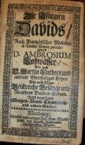 Image of Die Psalmen Davids 1722 title page