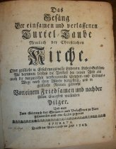 Image of Das Gesang Turtel taube 1747 title page
