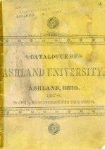 Image of 10-17Catalog1887 - Catalogue of Ashland University,. Ashland, Ohio 1887-1888