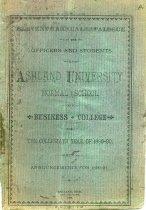 Image of 10-17Catalog1889 - Ashland University Catalog 1889