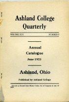 Image of Ashland College Quarterly