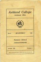 Image of 10-17Catalog1922Summer - Ashland College Ashland, Ohio March Quarterly 1922 Summer School Announcements