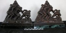 Image of Pair of statues depiciting the flag raising on Iwo Jima. - Objects Collection