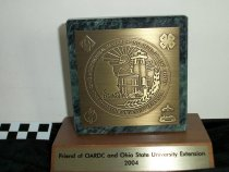 Image of Award Friend of OARDC and Ohio State University Extension 2004 - Objects Collection