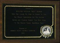 """Image of Presented to Senator William """"Bill"""" Harris - Plaque"""