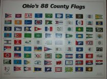 Image of Ohio's 88 County Flags