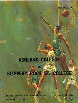 Image of 2011-021968Basketball0208 - Ashland College vs Slippery Rock St. College February 6, 1968