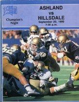 Image of 2011-021986Football0920 - Ashland College vs Hillsdale College football September 20, 1986