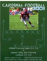 Image of 2011-022001Football0929 - Ashland University vs Saginaw Valley State University football September 29, 2001