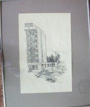 Image of Artwork-Ashland University Library building, Ashland, Ohio. - Artwork