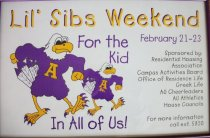 Image of Poster-Lil's sibs weekend February 21-23 Sponsored by; - Poster