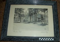 Image of Original artwork Founders Hall, Ashland College campus, Ashland, Ohio. - Artwork