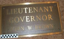 Image of Plaque bronze, inscribed Lieutenant Governor John W. Brown. - Plaque