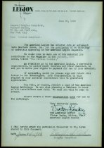 Image of Framed letter from Victor Lasky to General Douglas McArthur. - Framed Letter