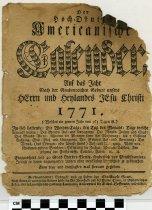 Image of BCA10-1917711586100 - Hoch-deutsch americanische Calender, auf das Jahr ...         (Germantown (Philadelphia, Pa.))  Der hoch-deutsch americanische Calender, auf das Jahr ...