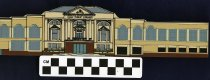 Image of Wooden figure cutout of Mansfield, Ohio Richland County Public Library building. - Objects Collection