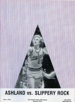 Image of 2011-021974MnsBskball1203 - Ashland College vs Slippery Rock men's basketball December 3, 1974