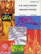 Image of 2011-021975Football0920 - C. W. Post College vs Ashland College football September 20, 1975