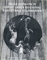 Image of 2011-021976NCAABskBl0312 - NCAA Division III Great lakes Regional Basketball Tournament March 12-13, 1976