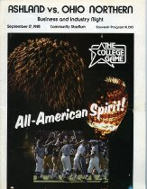 Image of Ashland College vs Ohio Northern football September 17, 1983