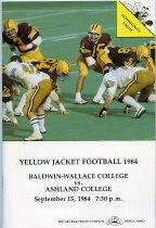 Image of 2011-021984Football0915 - Baldwin-Wallace College vs Ashland College football September 15, 1984