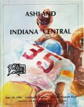 Image of 2011-021984Football0929 - Ashland College vs Indiana Central University football September 29, 1984