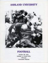 Image of 2011-021991Football1026 - Ashland University vs Grand Valley State University football October 26, 1991