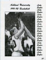 Image of 2011-021991WBskball1203 - Ashland University vs Hillsdale College women's basketball December 3, 1991