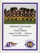 Image of 2011-021996Football0829 - Ashland University vs Ferris State University football August 29, 1996