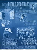Image of Hillsdale College vs Ashland University football September 21, 2002