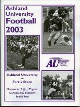 Image of 2011-022003Football1108 - Ashland University vs Ferris State University football November 8, 2003