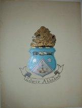 Image of Alpha Delta Pi sorority coat of arms artwork. - Artwork
