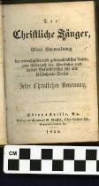 Image of Der christliche Sanger 1855 copy 1 title page