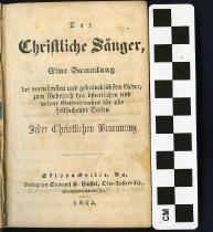 Image of Der christliche Sanger 1855 copy 2 title page