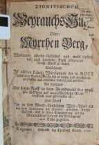 Image of 1739 zionitischer Weyrauchs title page