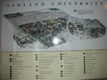 Image of Ashland University Campus Map, Ashland, Ohio ca. 2004 - Poster