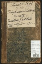 Image of 08-181846minutebook - Minute book-Philo Society 1846-1851, Vermillion Institute, Hayesville Academy, Hayesville, Ohio.