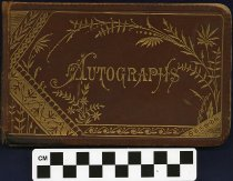 Image of Autograph book 1880 complied by Effie Brandt a student at the Vermillion Academy, Hayesville, Ohio. - Autograph book