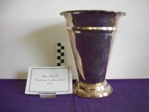 Image of Silver platted vase presented to Alpha Delta Pi for a scholarship excellence award 2003  - Objects Collection
