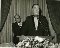Image of Photograph F. Clifton White at the podium with Bill Rusher.