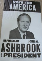 Image of Political sign-Vote for America Republican John M. Ashbrook for President. - Political advertising sign