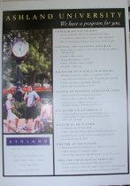 Image of Poster oversized-Ashland University we have a program for you.   - Objects Collection