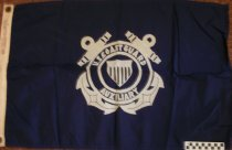 Image of Nautical flag Coast Guard Auxiliary used by Hugo Young for his boat. - Flag