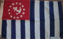 Image of Nautical flag Power Squardron used by Hugo Young on his boat. - Flag