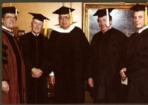 Image of Dr. Joseph Shultz with Fred Lennon, Victor Lasky, Harry Gill and James Pres