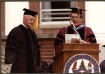 Image of Fred Lennon and Dr. Joseph Shultz, May 1983.